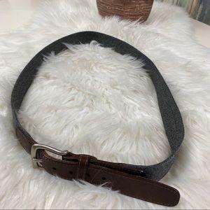 Vintage Lands' End Men's Wool Leather Belt sz 38